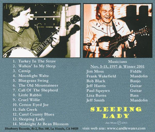 Jim Moss Sleeping Lady CD Back